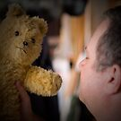 When a man loves.... a teddy..  by Froshi
