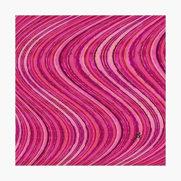 Watercolour Waves Pink Amanya Design Photographic Print