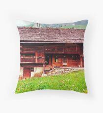 Chalet De Savoie Throw Pillow