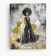 Der Queen Black and Gold Metal Print