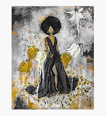Der Queen Black and Gold Photographic Print
