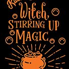 Halloween T-Shirts & Gifts: Kitchen Witch Stirring Up Magic by wantneedlove