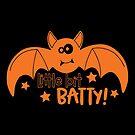 Halloween T-Shirts & Gifts: Little Bit Batty by wantneedlove