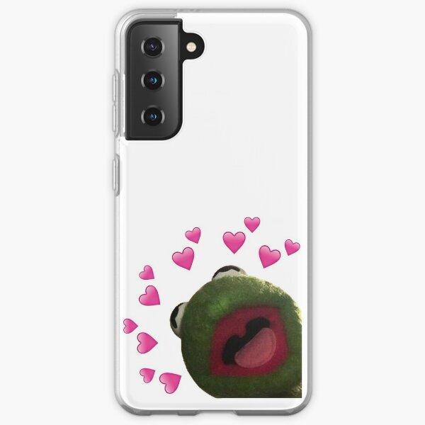 Kermit heart Meme Samsung Galaxy Soft Case