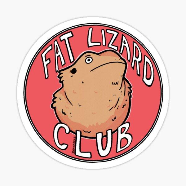 Fat Lizard Club Sticker