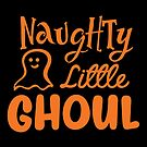 Halloween T-Shirts & Gifts: Naughty Little Ghoul by wantneedlove