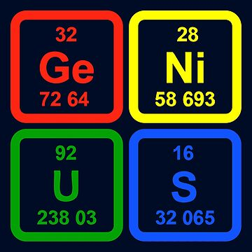 Genius Periodic Table Of Elements Science by TeeVision
