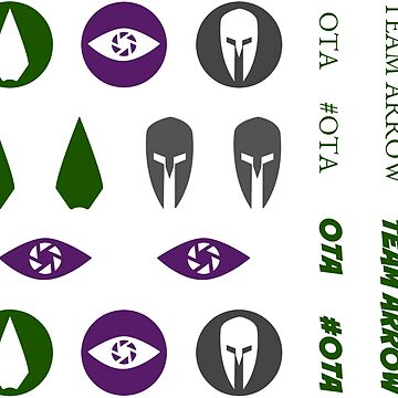 Original Team Arrow Hero Symbols and Words Sticker Sheet by FangirlFuel