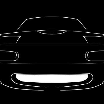 Mazda Miata MX-5 NA - front stencil, white by mal-photography