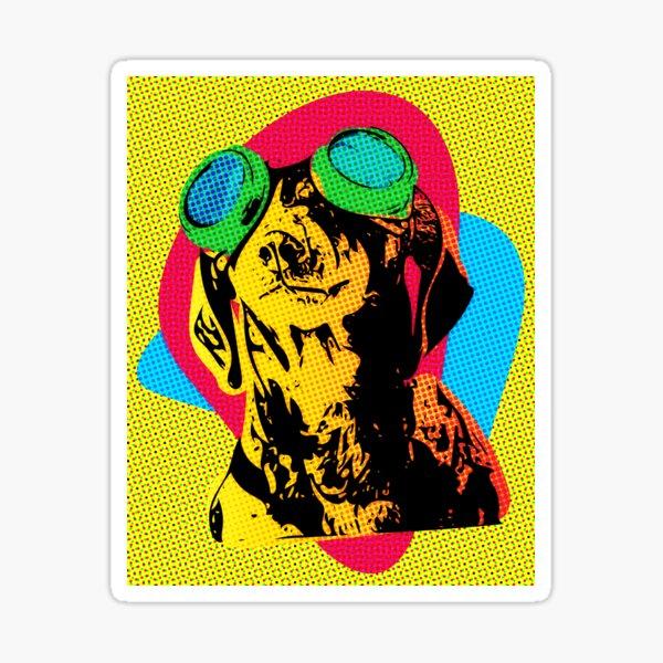 Steampunk Dachshund Pop Art Sticker