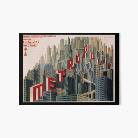 Metropolis 1927, movie, poster, from Fritz Lang, Original Design Art Board Print