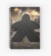 Black Meeple Spiral Notebook
