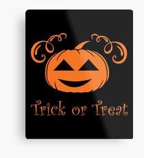 Halloween T-Shirts & Gifts: Trick Or Treat Metal Print