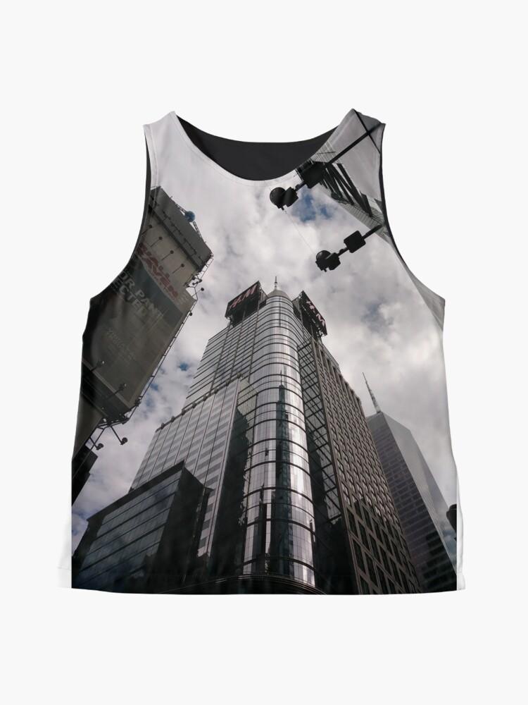 Alternate view of #Manhattan, #NewYork, #NewYorkCity, #buildings, #streets, #pedestrians, #people, #cars, #building, #architecture, #city, #skyscraper #sky, #urban, #glass, #downtown, #tower, #skyline, #tall Sleeveless Top
