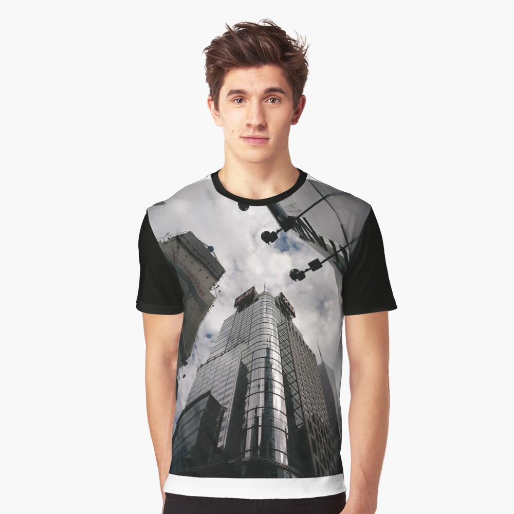 #Manhattan, #NewYork, #NewYorkCity, #buildings, #streets, #pedestrians, #people, #cars, #building, #architecture, #city, #skyscraper #sky, #urban, #glass, #downtown, #tower, #skyline, #tall Graphic T-Shirt Front