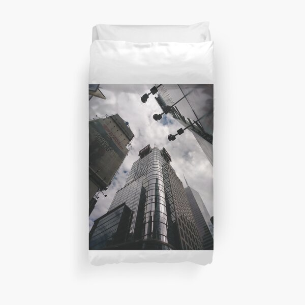 #Manhattan, #NewYork, #NewYorkCity, #buildings, #streets, #pedestrians, #people, #cars, #building, #architecture, #city, #skyscraper #sky, #urban, #glass, #downtown, #tower, #skyline, #tall Duvet Cover