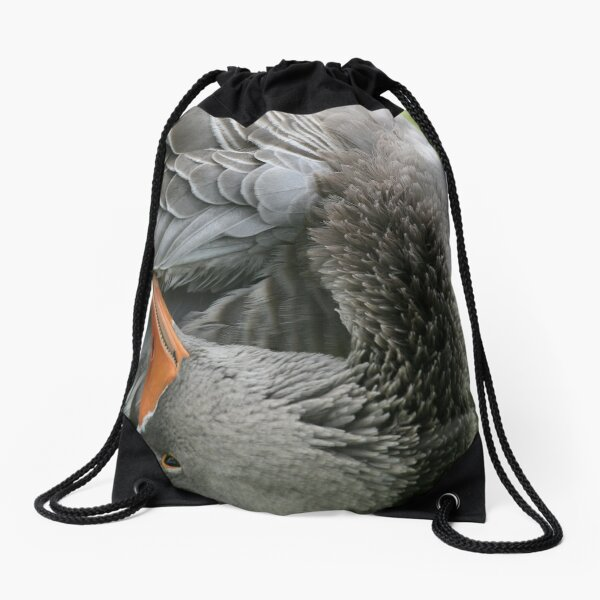Twisted Goose Drawstring Bag
