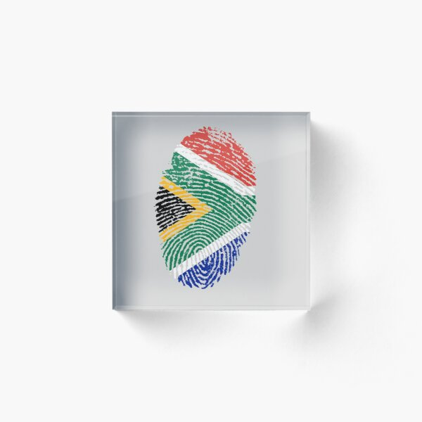 I am South African Acrylic Block