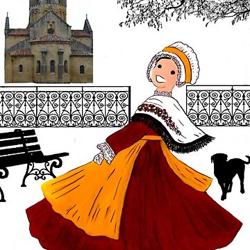 Little girl costume in BOURGOGNE, France by Folklore