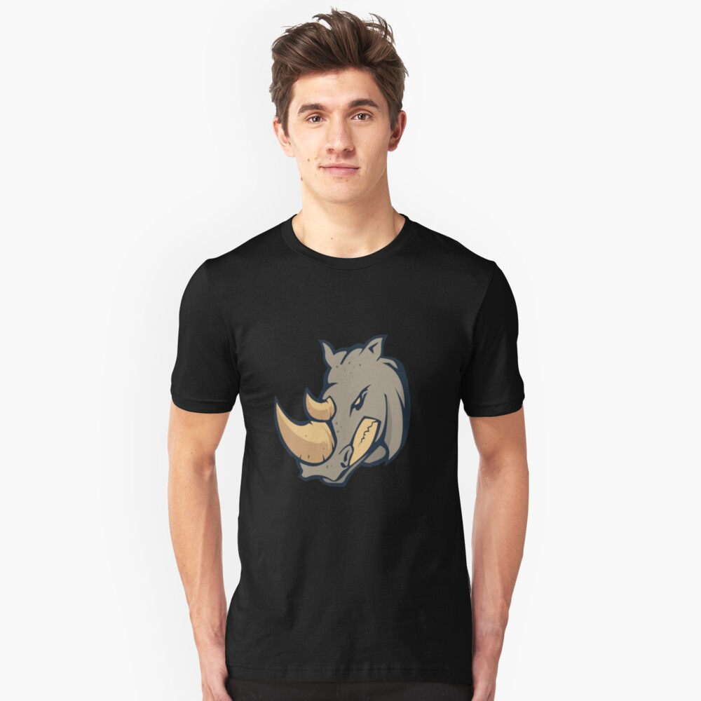 Angry Rhino face Unisex T-Shirt Front