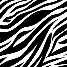 Zebra Animal Print in Black by Tee Brain Creative