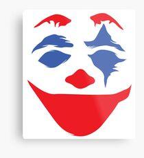 the clown clean - white Metal Print