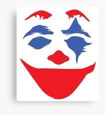 the clown clean - white Canvas Print