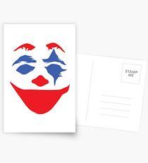 the clown clean - white Postcards