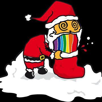 Rainbow puking Santa Claus by NovaPaint