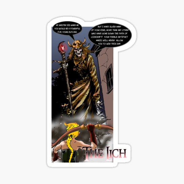 THE LICH confronts Aristar! Sticker