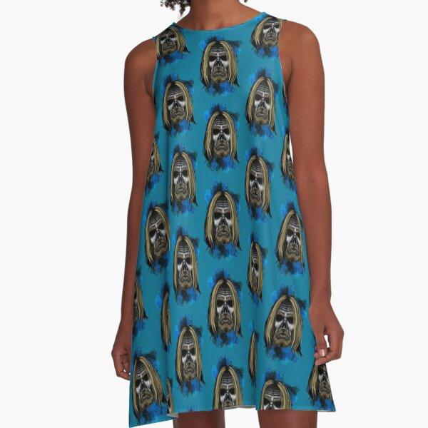 Errorface Skull Icons - Iggy A-Line Dress