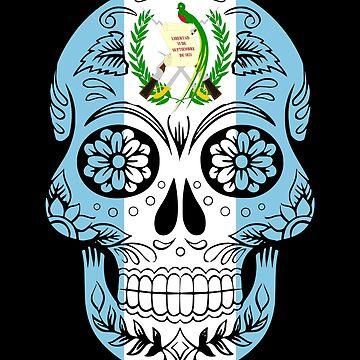 Guatemala Skull Patriotic by inkedtee