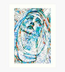 Glass stain mosaic 8 - Madonna, by Brian Vegas Art Print