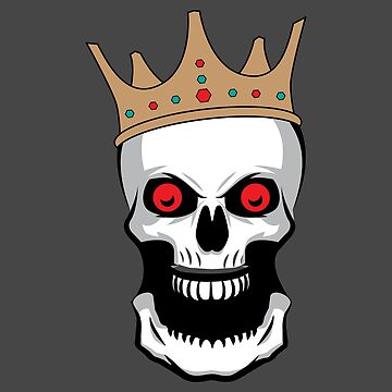 Halloween King of Skeletons Crown Big mouth Scary - Gift Idea by vicoli-shirts