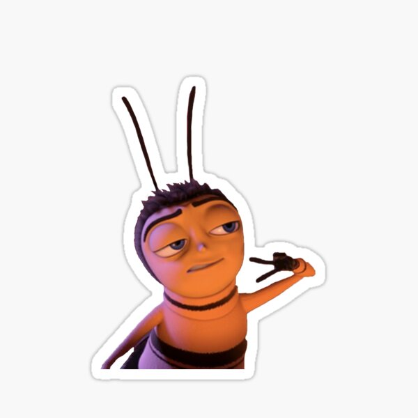 Barry from The Bee Movie Peace Sign Sticker