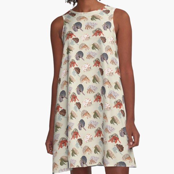 Hermit Crabs Pattern A-Line Dress