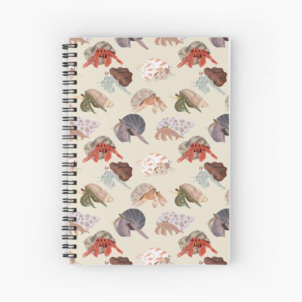 Hermit Crabs Pattern Spiral Notebook
