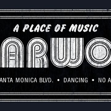 Starwood: A Place of Music (Black, Distressed) by PissAndVinegar