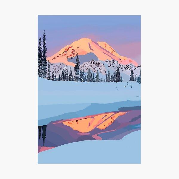 calm snowy mountain Photographic Print