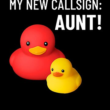 aunt baby announcement cute rubber ducks by peter2art