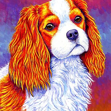 Colorful Cavalier King Charles Spaniel Dog by lioncrusher