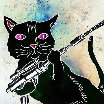 Black Space Cat by MUMtees