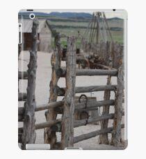 Raw Wood Fence Around Fort iPad Case/Skin