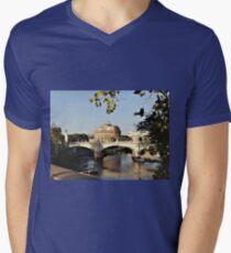 View Over The Tiber Men's V-Neck T-Shirt