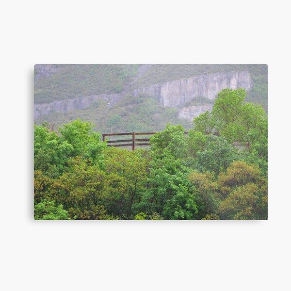 Fence Near Bridal Veil Falls Metal Print