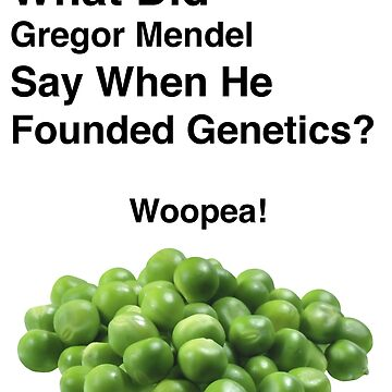 Gregor Mendel - Joke - Biology by jonaszeferino