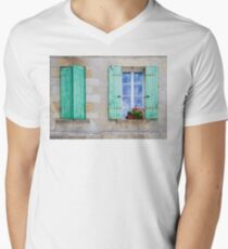 Window Shutters Open and Closed Men's V-Neck T-Shirt