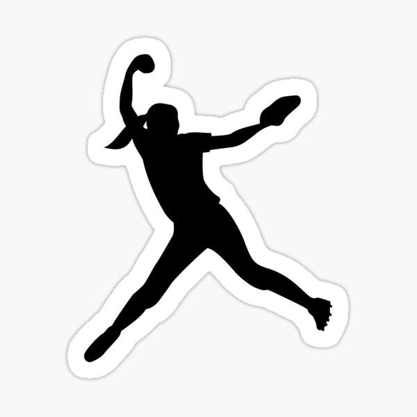 Softball Pitcher Sticker Sticker