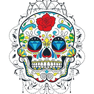 Day of the Dead Candy Skull by adjua