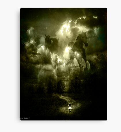 her spirit horses Canvas Print